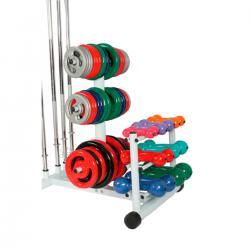 Imagem do produto Suporte conjugados - Anilhas 6 pinos + 6 barras + 3 pares Halteres - 3 Andares - MF 1116