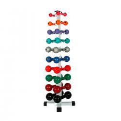 Imagem do produto Suporte para Halteres - Torre para 10 pares - Prata
